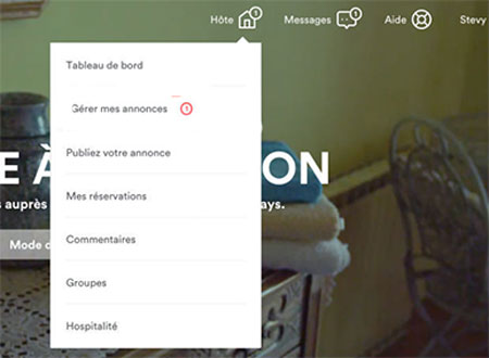 supprimer une annonce airbnb