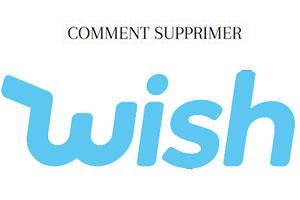 comment supprimer un compte wish?