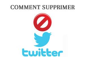comment supprimer un compte twitter