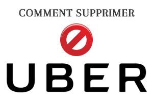 comment supprimer un compte uber