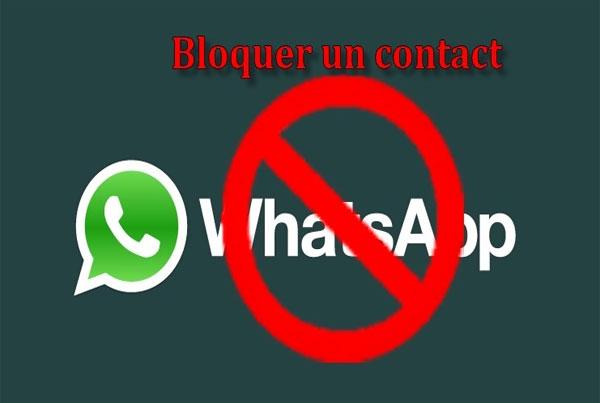 bloquer un contact sur WhatsApp