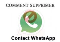 comment supprimer un contact WhatsApp