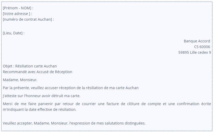modele lettre resiliation carte oney Comment résilier une carte Oney en ligne définitivement?