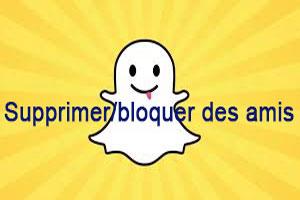 supprimer des amis sur snapchat