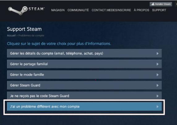 supprimer un profil steam