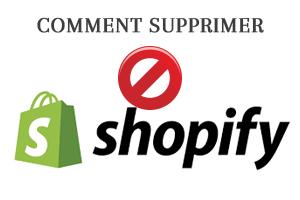 comment supprimer une boutique shopify