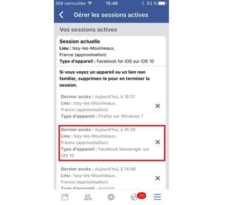 désactiver messenger sans facebook