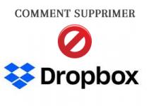 comment supprimer drop box