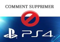 comment supprimer un utilisateur sur ma play station 4