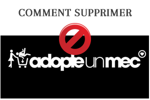 suprimer un compte AdopteUnMec
