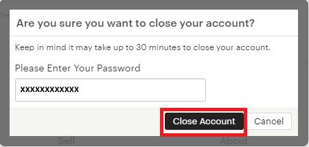 Comment fermer mon profil?