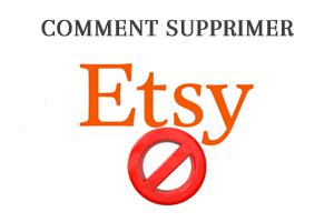 Comment supprimer mon compte etsy