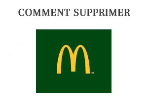 Comment supprimer un compte Mac Donald's?