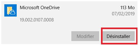Se débarraser de OneDrive définitivement