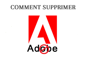 Comment supprimer compte Adobe