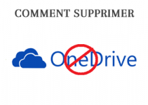 Comment supprimer OneDrive