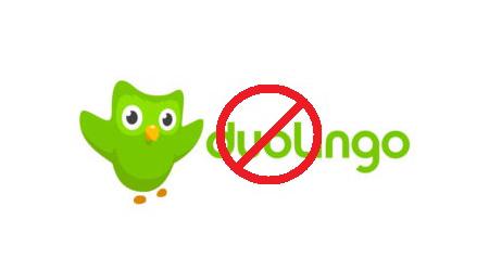 Supprimer mon compte sur duolingo