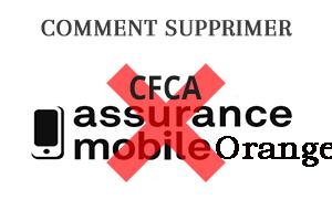 Résilier assurance mobile CFCA Orange
