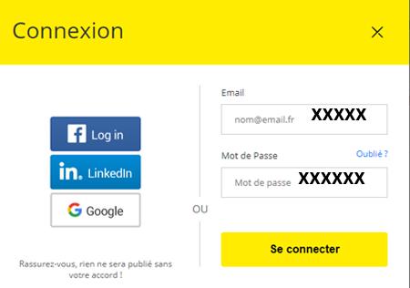 Se connecter à mon espace pagesjaunes.fr