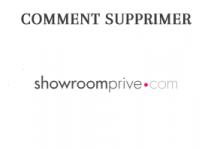 Comment supprimer mon compte showroomprive?