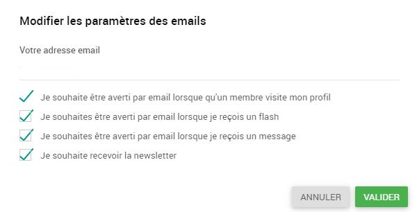 Annuler les newsletters Freemeet