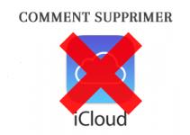 Comment supprimer un compte iCloud?