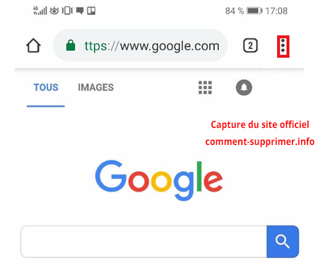 supprimer notification chrome sur Android