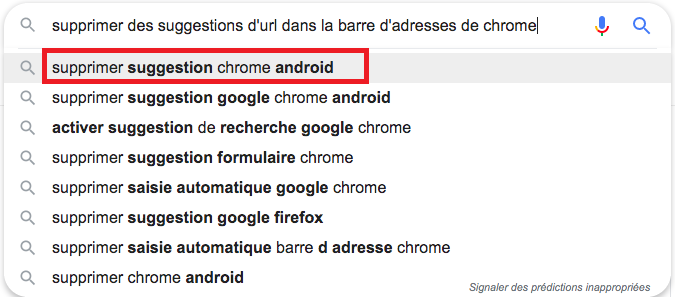 supprimer google suggest