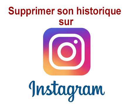 Effacer un historique Instagram