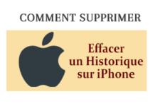 Effacer historique iPhone