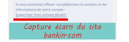 Se désinscrire du site bankin.com