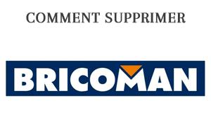 Supprimer un compte client Bricoman