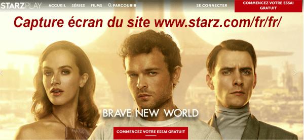 Annuler mon abonnement Stars Play sur le site Internet starz.com/fr