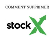 Supprimer mon compte Stockx en ligne.