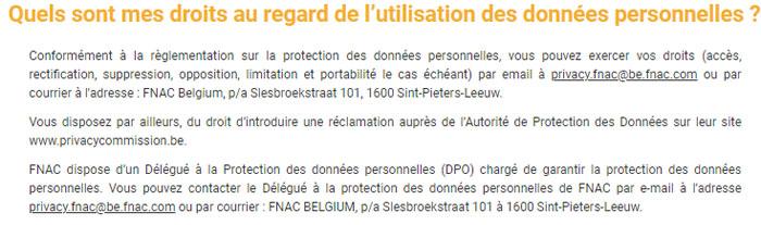 Supprimer un compte Fnac Belgique