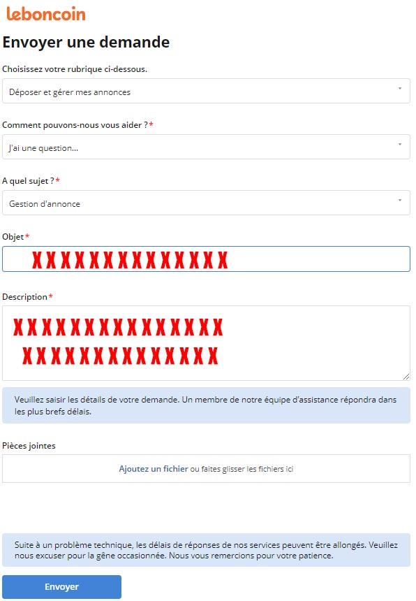 Contacter le Service Client Leboncoin problème d'annonce